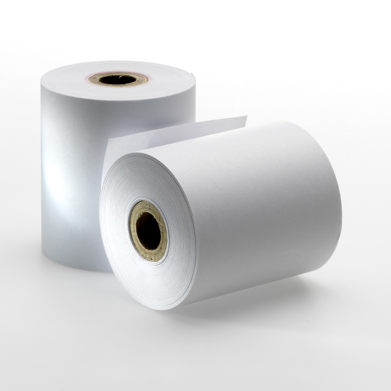 2 3/4 in  (70 mm) White Bond Rolls for EPSON: TM 925, TM 930, TM 930IIS, TM  950